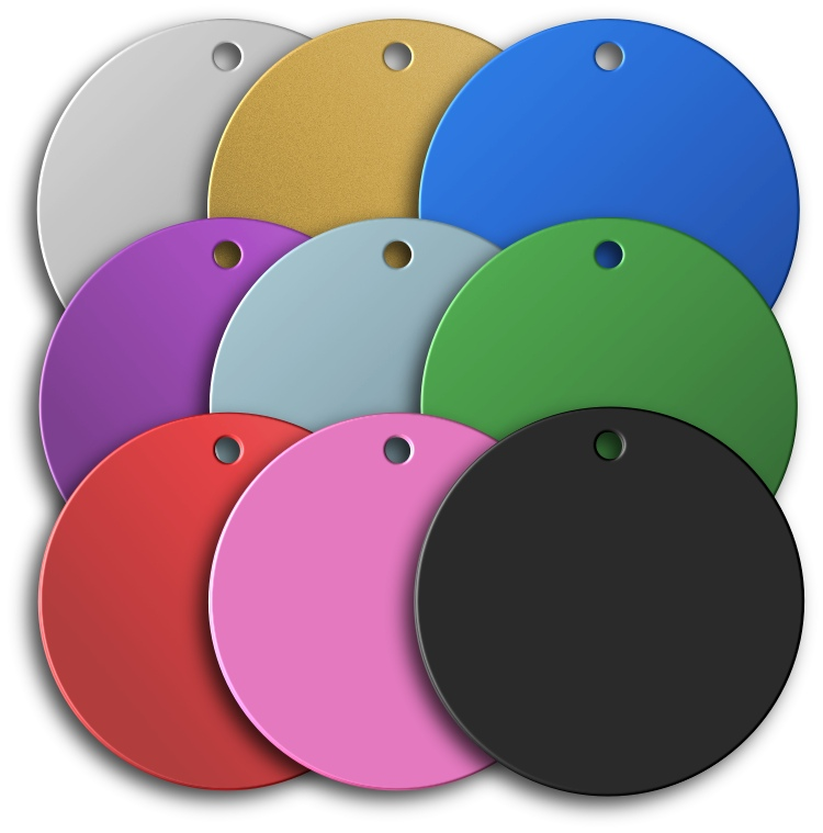 Aluminium Disc Shaped Pet Tags - Premium