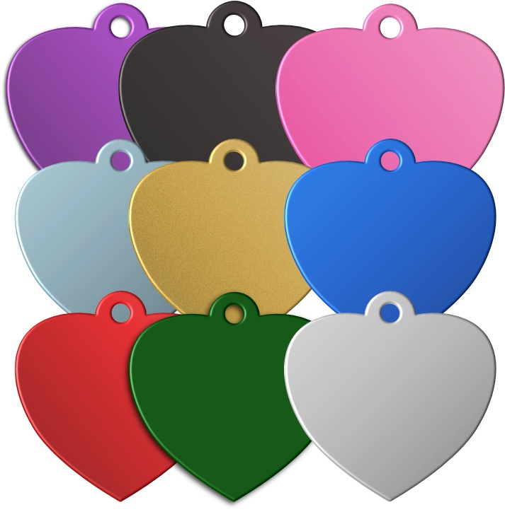 Heart Shaped Pet Tags - Premium