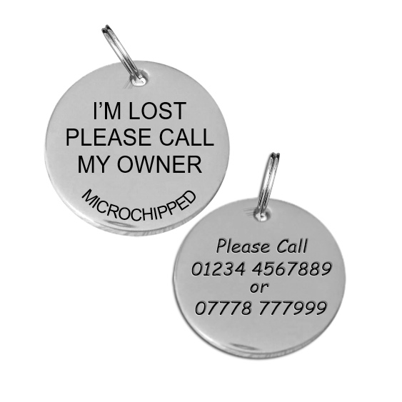 Stainless Steel Dog Id Tag 25MM