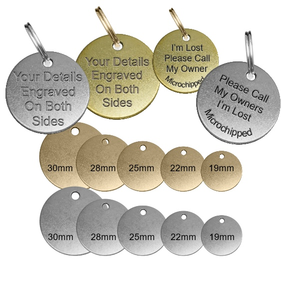 Traditional Dog Id Tags Brass / Nickel